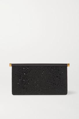 Valentino Garavani Carry Secrets Beaded Leather Clutch - Black