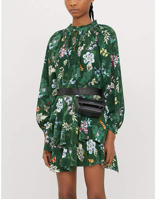 Zadig & Voltaire ZADIG&VOLTAIRE Floral-print silk-satin mini skirt