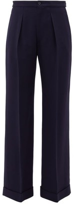 Connolly - High-rise Twill Wide-leg Trousers - Navy