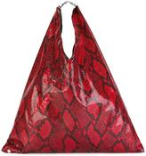 MM6 MAISON MARGIELA snakeskin print tote bag