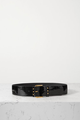 Saint Laurent Patent-leather Waist Belt - Black