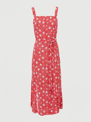 V By Very Curve Split HemMidi Dress - Print