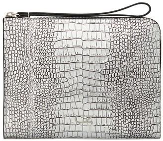 Giuseppe Zanotti Embossed Crocodile-Effect Clutch Bag