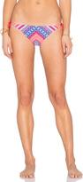 Shoshanna Chevron Tapestry String Bikini Bottom