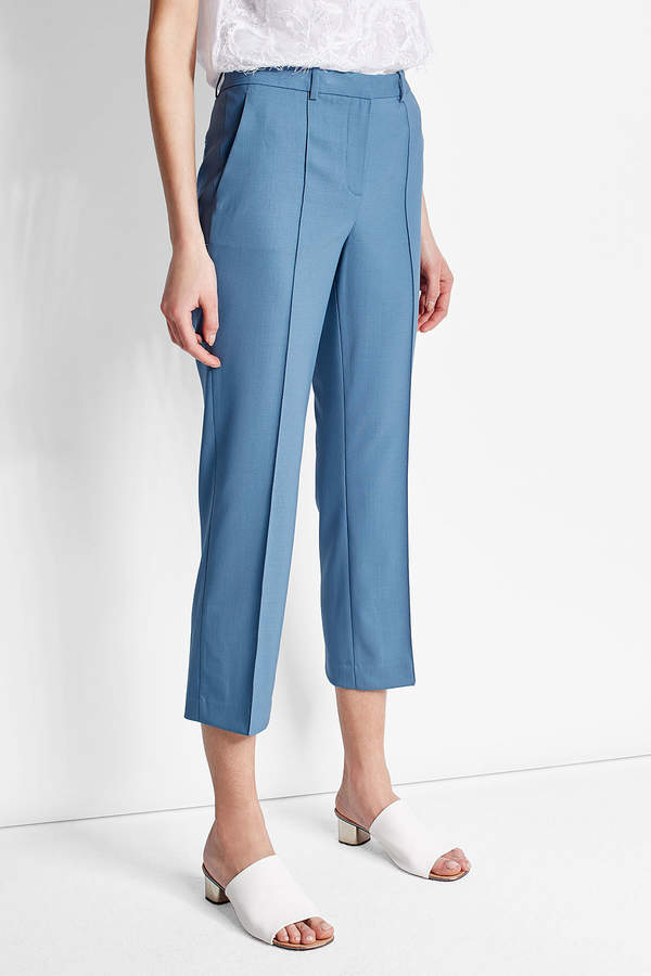 Theory Cropped Virgin Wool Pants