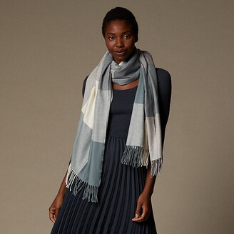Love & Lore Love And Lore Supersoft Scarf Giant Gingham Trooper Blue