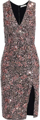 Alice + Olivia Natalie Sequined Mesh Dress