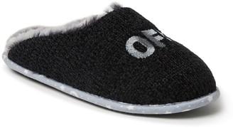 Dearfoams Novelty Chenille Scuff Slippers withScrunchie