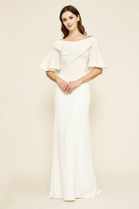 Tadashi Shoji Hayworth Cross-Front Crepe Gown