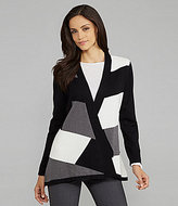TanJay Colorblock Open-Front Cardigan
