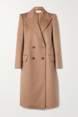 Alexander McQueen Double-breasted Camel Hair Coat - Sand