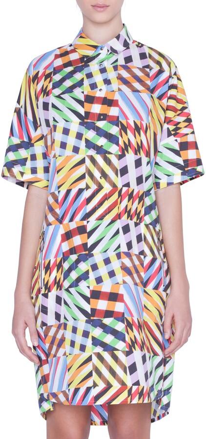Akris Punto Patchwork Print Tunic Dress