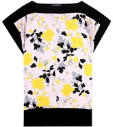 Salvatore Ferragamo Printed Silk And Cotton Top