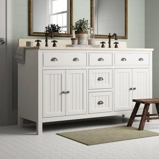 "Birch Lane Hamilton 60"" Double Bathroom Vanity Base Only Heritage"