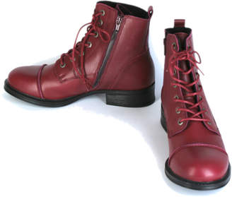Pandora Tenpoints laced boots, water resistant, red - 39 - Red/Leather /Black