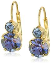 """Sorrelli Sweet Sapphire"""" Round Crystal French Wire Drop Earrings"""