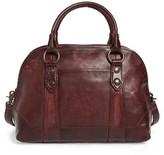 Frye 'Melissa' Domed Leather Satchel - Burgundy