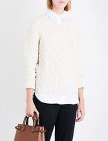 Burberry Ribbed wool and cashmere-blend jumper