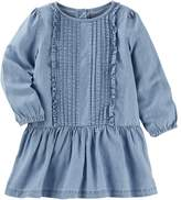 Osh Kosh Toddler Girl Drop Waist Chambray Dress