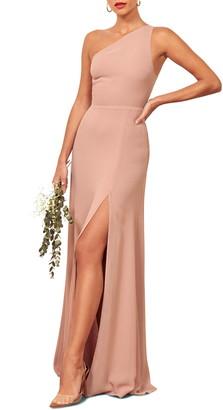Reformation Evelyn One-Shoulder Gown