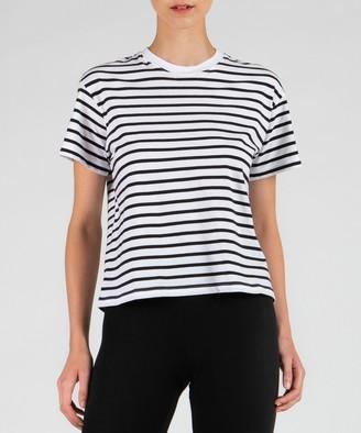 Atm Classic Jersey Short Sleeve Boy Tee - Black/ White Stripe