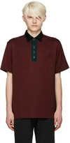 Lanvin Burgundy Half-Zip Polo