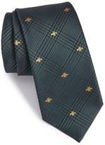 Gucci Men's Vichee Embroidered Silk Blend Tie