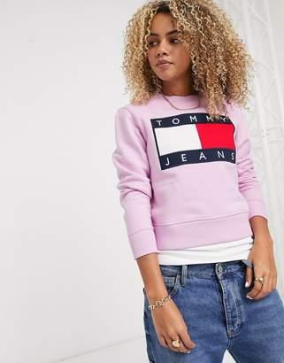 Tommy Jeans flag sweatshirt-Pink