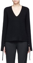 Helmut Lang Lace up sleeve wool-cashmere sweater