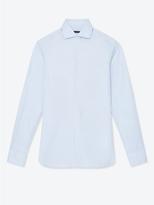 JEFFREY RUDES Spread Collar Dress Shirt In Sky