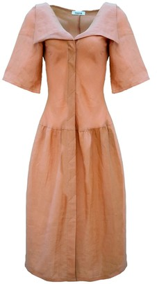 Onīrik Monet Dress - Terracotta Linen