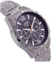 Lorus Lorus black dial Stainless Steel bracelet chronograph mens watch