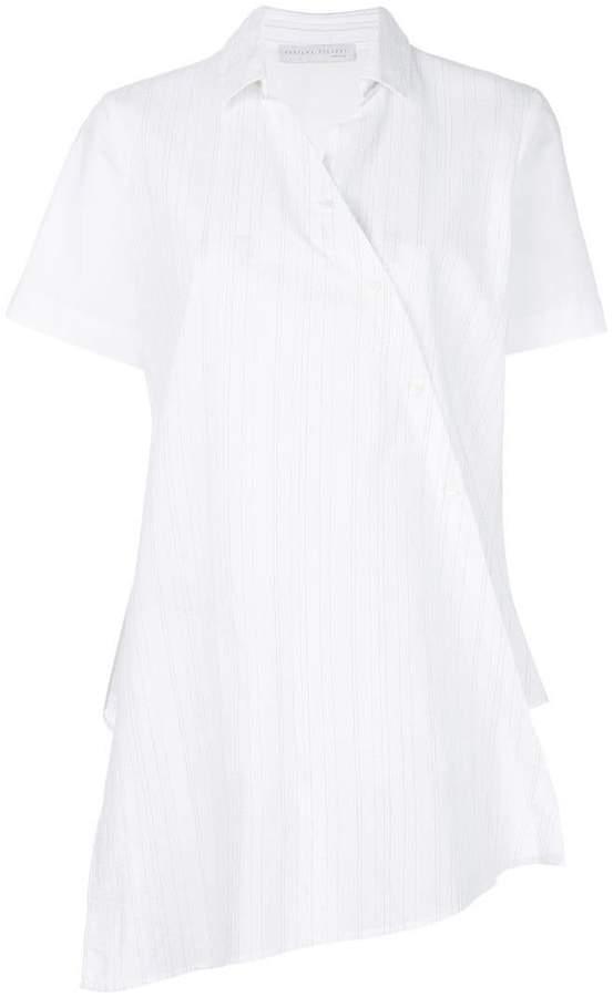 Fabiana Filippi pinstripe wrap shirt