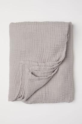 H&M Cotton Muslin Bedspread - Brown