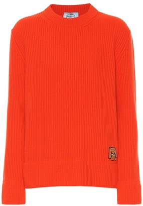 Prada Ribbed wool and cashmere sweater
