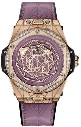 Hublot King Gold and Diamond Big Bang One Click Sang Bleu Watch 39mm