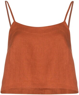 BONDI BORN Flared Cropped Slip Top