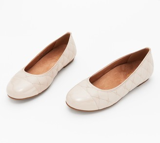 Vionic Quilted Leather Flats - Desiree