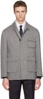 Thom Browne Black & White Patch Pocket Driver Jacket