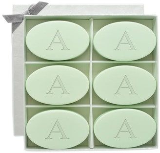Pottery Barn Monogrammed Oval Soap Set - Green Tea & Bergamot Scent