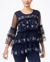 Style&Co. Style & Co Tiered Ruffled Top Available in Regular & Petite Sizes, Created for Macy's