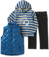 Calvin Klein Little Boys' Vest, Knit Top & Pants Set