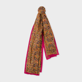 Paul Smith Women's Multi-Colour 'Leopard' Print Wool-Blend Scarf