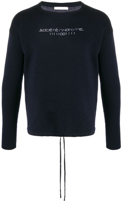 Societe Anonyme Stitched Logo Jumper