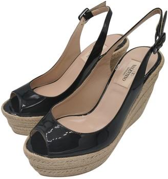 Valentino Black Patent leather Espadrilles