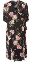Dorothy Perkins Womens **Maternity Black Floral Belted Wrap Dress
