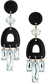 Nest Women's 22K Goldplated, Swarovski Crystal & Horn Chandelier Earrings