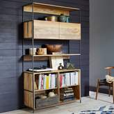 "west elm Industrial Modular 49"" Open + Closed Storage"