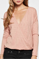 Love Stitch Lovestitch Long Sleep Wrap Top