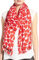 Kate Spade Women's Heart To Heart Scarf